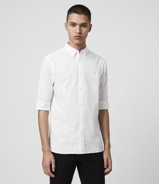Men's Redondo Half Sleeved Shirt (White) - Image 4