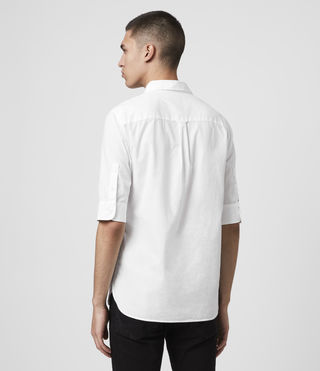 Mens Redondo Half Sleeved Shirt (White) - Image 5
