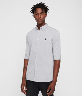 Men's Redondo Half Sleeved Shirt (Light Grey)