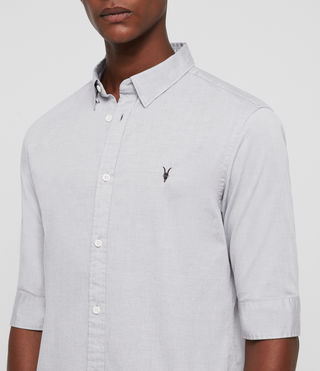 Men's Redondo Half Sleeved Shirt (Light Grey) - product_image_alt_text_2