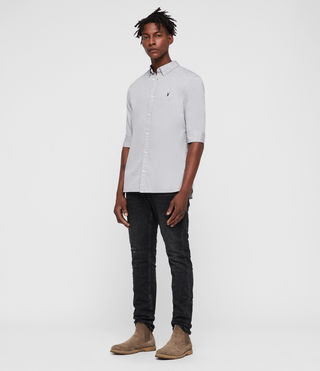 Men's Redondo Half Sleeved Shirt (Light Grey) - product_image_alt_text_3