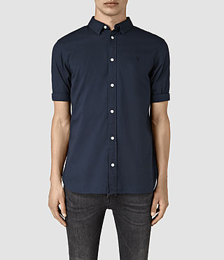 Hombres Redondo Half Sleeved Shirt (INK NAVY) -