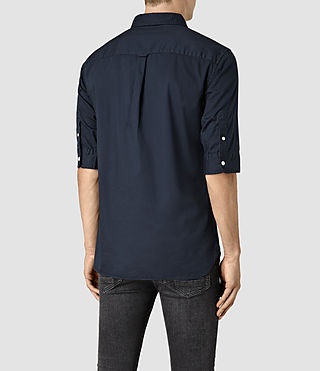 Hombres Redondo Half Sleeved Shirt (INK NAVY) - product_image_alt_text_3