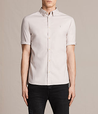Mens Redondo Half Sleeved Shirt (ASH PINK) - product_image_alt_text_1