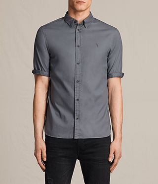 Hombres Redondo Half Sleeved Shirt (COAL GREY) -