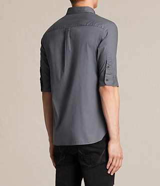 Hombres Redondo Half Sleeved Shirt (COAL GREY) - product_image_alt_text_4