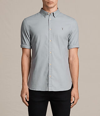 Men's Redondo Half Sleeved Shirt (CHROME BLUE) - product_image_alt_text_1