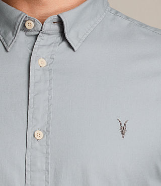 Mens Redondo Half Sleeved Shirt (CHROME BLUE) - product_image_alt_text_2