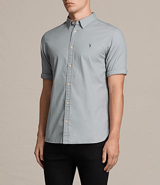 Men's Redondo Half Sleeved Shirt (CHROME BLUE) - Image 3