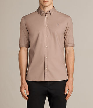 Men's Redondo Half Sleeved Shirt (MUSHROOM PINK) -