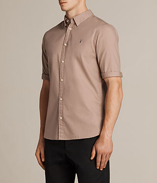 Men's Redondo Half Sleeved Shirt (MUSHROOM PINK) - product_image_alt_text_3