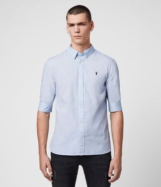 Men's Redondo Half Sleeved Shirt (Light Blue)