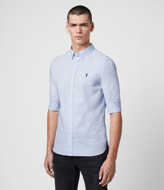 Men's Redondo Half Sleeved Shirt (Light Blue) - product_image_alt_text_4