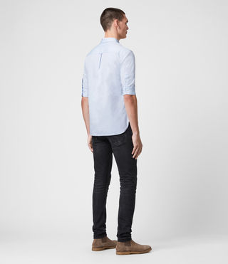 Men's Redondo Half Sleeved Shirt (Light Blue) - product_image_alt_text_5