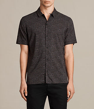 Men's Akaw Short Sleeve Shirt (Washed Black) - product_image_alt_text_1