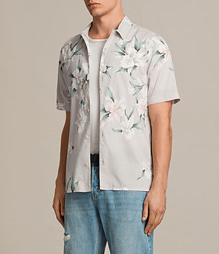 Men's Layback Short Sleeve Shirt (Light Grey) - product_image_alt_text_3