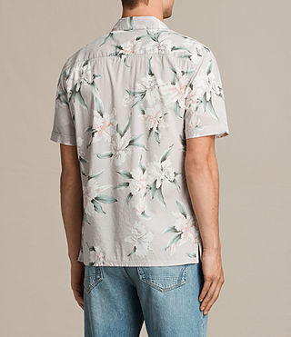 Men's Layback Short Sleeve Shirt (Light Grey) - product_image_alt_text_4