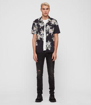 Men's Layback Short Sleeve Shirt (Washed Black) - product_image_alt_text_1