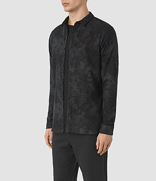 Uomo Termo Ls Shirt (Charcoal) - product_image_alt_text_3