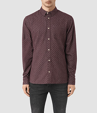 Mens Cresco Shirt (Damson) - product_image_alt_text_1