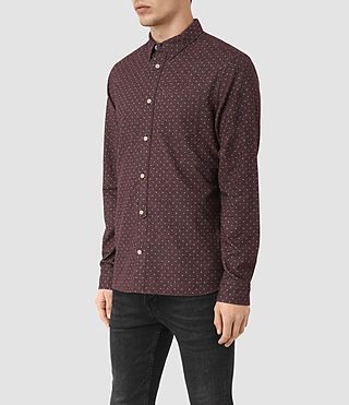 Men's Cresco Shirt (Damson) - product_image_alt_text_3