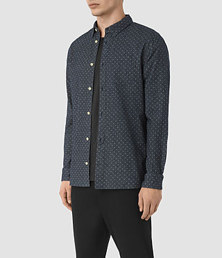 Herren Cresco Shirt (Midnight Blue) - product_image_alt_text_2