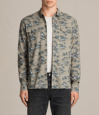 Hombre Marooned Shirt (Khaki Green) - product_image_alt_text_1