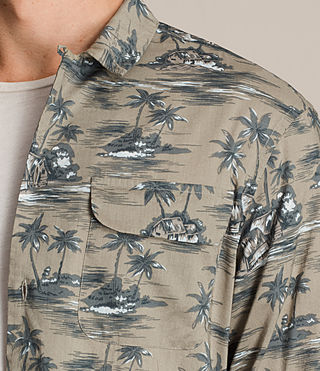 Hombre Camisa de manga larga Marooned (Khaki Green) - product_image_alt_text_2