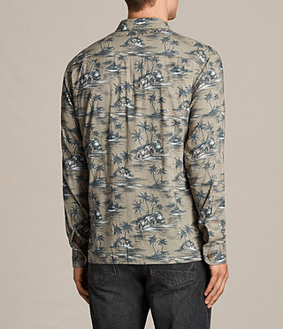 Hombre Camisa de manga larga Marooned (Khaki Green) - product_image_alt_text_4