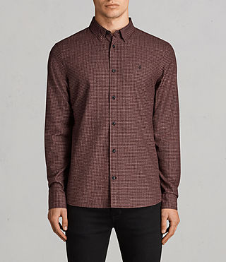 Uomo Camicia Ralston (BURNT RED) - Image 1