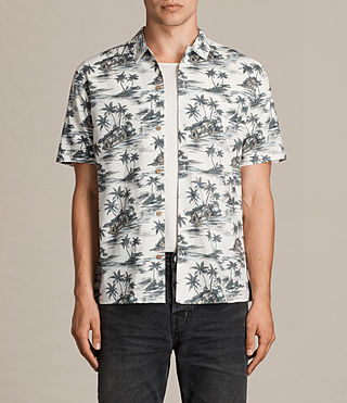 Men's Marooned Short Sleeve Shirt (ECRU WHITE) - product_image_alt_text_1