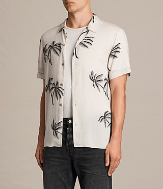 Men's Offshore Short Sleeve Shirt (ECRU WHITE) - product_image_alt_text_3