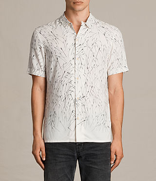 Uomo Blunt Short Sleeve Shirt (ECRU WHITE) -