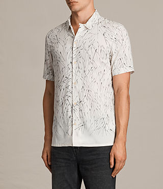 Herren Blunt Short Sleeve Shirt (ECRU WHITE) - product_image_alt_text_3