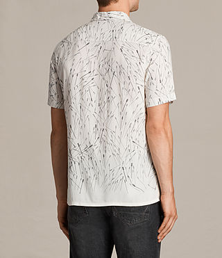 Herren Blunt Short Sleeve Shirt (ECRU WHITE) - product_image_alt_text_4