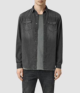 Hommes Marilla Denim Shirt (Black)