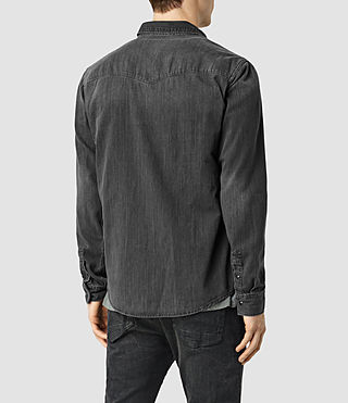 Men's Marilla Denim Shirt (Black) - product_image_alt_text_3