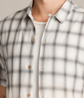 Men's Caldwell Short Sleeve Shirt (ECRU WHITE) - product_image_alt_text_2