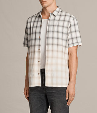Men's Caldwell Short Sleeve Shirt (ECRU WHITE) - product_image_alt_text_3