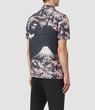 Mens Sakura Short Sleeve Shirt (Dark Grey) - product_image_alt_text_3