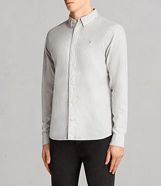 Mens Berwick Shirt (Grey/White) - Image 3