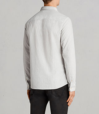 Mens Berwick Shirt (Grey/White) - Image 4