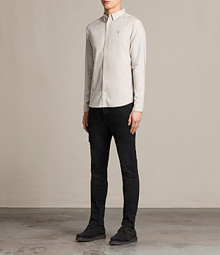 Men's Topanga Shirt (ECRU WHITE) - product_image_alt_text_3