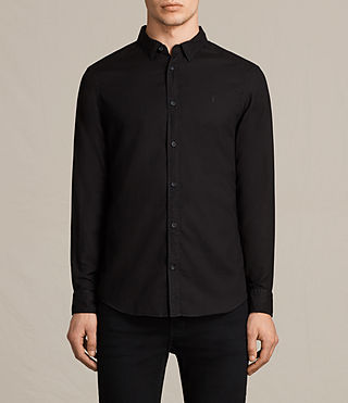 Mens Topanga Shirt (Black) - product_image_alt_text_1