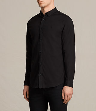 Mens Topanga Shirt (Black) - product_image_alt_text_3