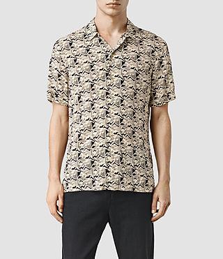 Mens Tumalo Short Sleeve Shirt (ECRU WHITE)