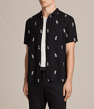 Men's Pine Short Sleeve Shirt (Black) - Image 3
