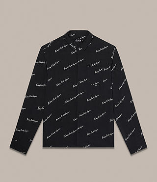 Men's Whiteletter Shirt (Black) - Image 2