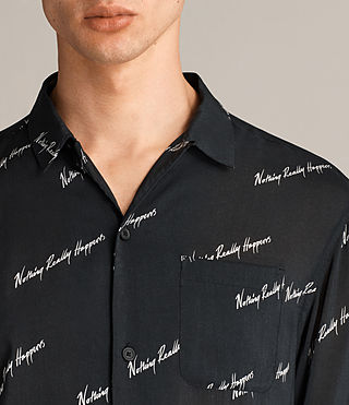 Men's Whiteletter Shirt (Black) - Image 3