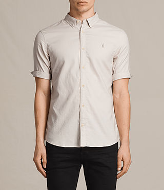 Mens Topanga Half Sleeve Shirt (ECRU WHITE) - product_image_alt_text_1